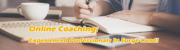 Online coaching: Experienced professionals in surge-land!